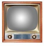 Oude TV met overzicht Stock Afbeelding