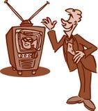 Oude TV van de Tijd Royalty-vrije Stock Fotografie
