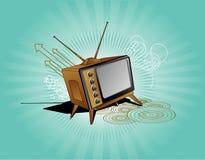 Oude TV vectorsamenstelling Stock Afbeelding