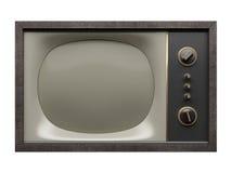 Oude TV. Vooraanzicht Stock Afbeeldingen