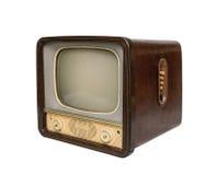 Oude TV, zijaanzicht royalty-vrije stock foto's