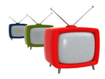 Oude TVs | 3D royalty-vrije illustratie