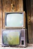 Oude TVs Stock Afbeeldingen