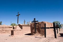 Oude typische cementery, toeristische plaats Stock Foto's