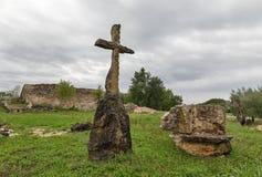 Oude uitgravingenplaats dicht bij Post Blek, Istria, Kroatië Royalty-vrije Stock Foto