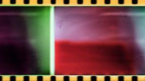 Oude Uitstekende Achtergrond Oude Filmaftelprocedure, stock videobeelden