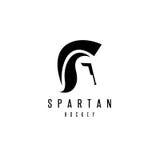 Oude Uitstekende Antiquiteiten Spartaanse strijder en hockeystok royalty-vrije illustratie