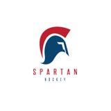 Oude Uitstekende Antiquiteiten Spartaanse strijder en hockeystok vector illustratie