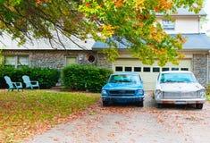 Oude uitstekende auto's. royalty-vrije stock foto