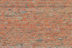 Oude uitstekende bakstenen muur royalty-vrije stock foto