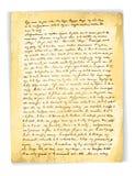 Oude Uitstekende Brief Stock Foto