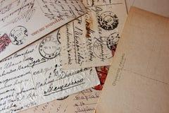 Oude uitstekende brieven royalty-vrije stock foto