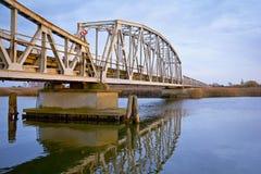 Oude uitstekende brug Royalty-vrije Stock Foto