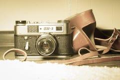 Oude uitstekende camera fet-5 Stock Foto