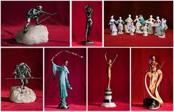 Oude uitstekende ceramische beeldjes Royalty-vrije Stock Afbeelding