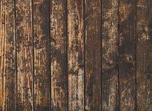 Oude uitstekende dark bevlekt houten plankenachtergrond Royalty-vrije Stock Afbeeldingen