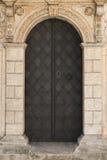 Oude, uitstekende deur Stock Afbeelding