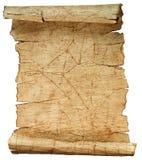 Oude uitstekende document textuur die op wit wordt geïsoleerdr Stock Fotografie