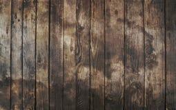 Oude uitstekende donkere bruine houten plankenachtergrond Stock Foto's