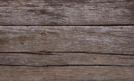 Oude uitstekende donkere bruine houten plankenachtergrond Royalty-vrije Stock Afbeeldingen