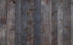 Oude uitstekende donkere bruine houten plankenachtergrond Stock Fotografie