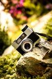 Oude uitstekende filmcamera Stock Fotografie
