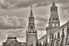 Oude uitstekende foto van Moskou het Kremlin stock afbeelding