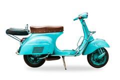 Oude uitstekende geïsoleerde motorfiets stock fotografie