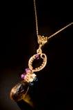 Oude uitstekende halsband met halfedelstenen XXL Royalty-vrije Stock Afbeelding