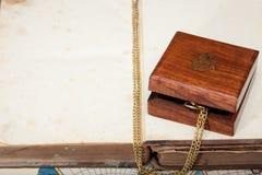 Oude uitstekende houten doos Royalty-vrije Stock Fotografie