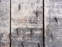 Oude uitstekende houten met spijkers Royalty-vrije Stock Afbeeldingen