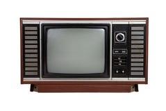 Oude uitstekende houten televisie Stock Afbeeldingen