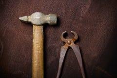 Oude uitstekende hulpmiddelen Royalty-vrije Stock Afbeeldingen