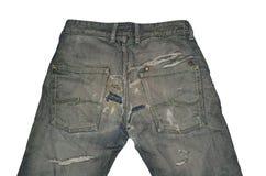 Oude uitstekende jeans royalty-vrije stock afbeelding