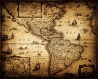 Oude Uitstekende Kaart Piraat en zeevaartthema grunge achtergrond stock afbeeldingen