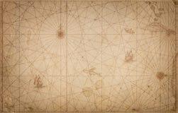 Oude uitstekende kaartachtergrond Retro stijl Wetenschap, onderwijs, stock foto