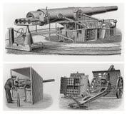 Oude uitstekende kanonnen Stock Afbeeldingen