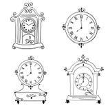 Oude uitstekende klok, Stock Foto