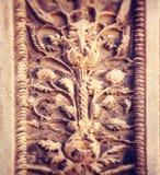 Oude uitstekende oude muur Stock Foto