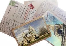 Oude uitstekende prentbriefkaaren Royalty-vrije Stock Fotografie