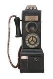Oude Uitstekende Publieke telefooncel Stock Fotografie