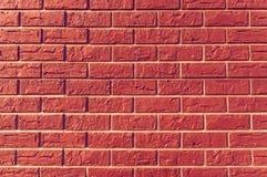 Oude uitstekende rode bakstenen muurachtergrond Royalty-vrije Stock Foto's