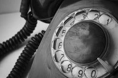 Oude Uitstekende schijftelefoon Stock Foto's