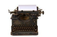 Oude uitstekende schrijfmachine stock foto