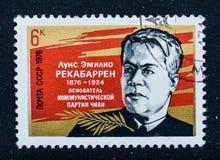 Oude uitstekende sovjetpostzegel royalty-vrije stock afbeeldingen