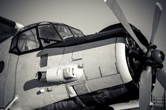 Oude uitstekende straalmotor royalty-vrije stock afbeeldingen