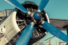 Oude uitstekende straalmotor stock fotografie