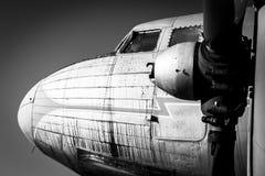 Oude uitstekende straalmotor royalty-vrije stock foto