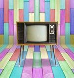 Oude uitstekende TV Stock Foto's