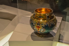 Oude vaas Faberge en juwelen Stock Afbeelding
